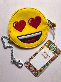 Kipling emoji 😍pouch with chain