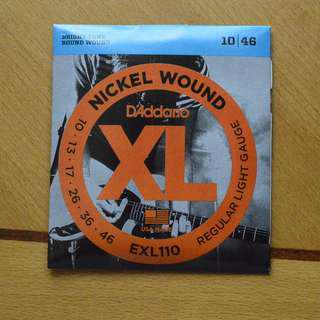 「包郵」電結他弦D'Addario Eectric Guitar Strings ,EXL110 Nickel Wound, Regular Light, 10-46, D'Addario電結他弦