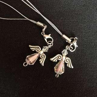 angel crystal keychain