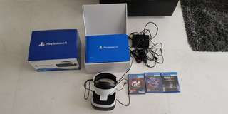 Playstation VR brand new + 3 games