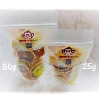 Monkey's Delight Natural Dried Lemon Slices (50g)