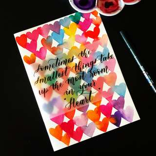 Handmade Cards with Calligraphy