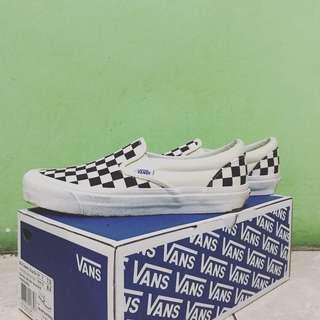 Vans Checkerboard OG Classic Black/White
