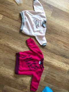 Nike jumpers (9-12mos) (2 pc)