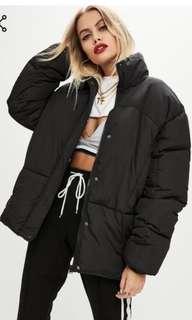Black ultimate oversized padded puffer jacket