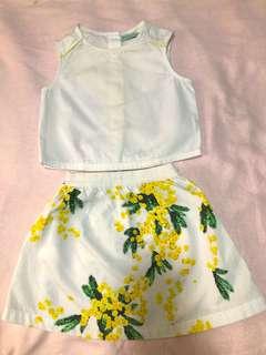 Gingersnaps Top & Floral Skirt (Pls. see description)