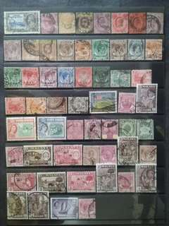 Mix Collection & Best Selection Of 1911 - 1949 1957 Straits Settlements Malaya - 56v Used Stamps All Different #1