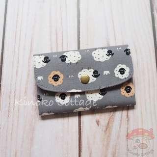 Handmade Card Pouch / Mini Wallet - Sheep
