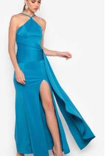 Apartment 8 Long Gown (Small, Teal)