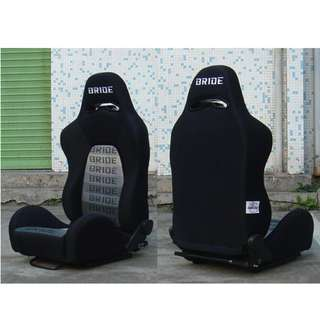 BRIDE Black Semi Bucket Seats