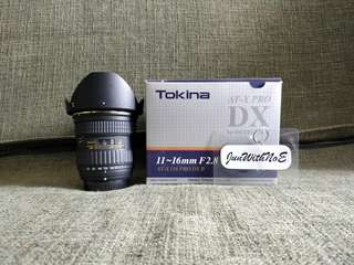 Tokina 11-16mm f/2.8 Ultra Wide Angle Lens For Nikon DX - 2nd Gen With Built In AF Motor