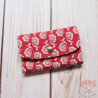 Handmade Card Pouch / Mini Wallet - Floral