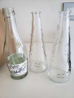 IKEA 玻璃瓶,花瓶$5有3個