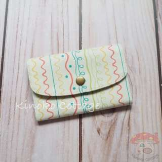 Handmade Card Pouch / Mini Wallet - Lines