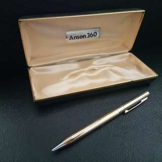 Vintage ANSON 360 Gold Ball Pen. New, never used
