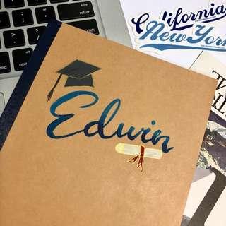 Personalised Graduation Notebook