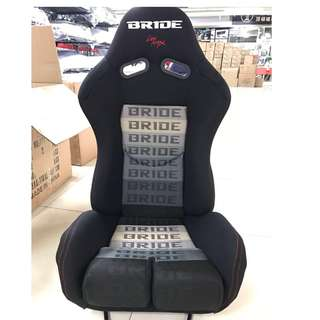 BRIDE Black Semi Bucket Seat