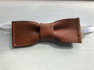 [100% New] Leather Bow Tie