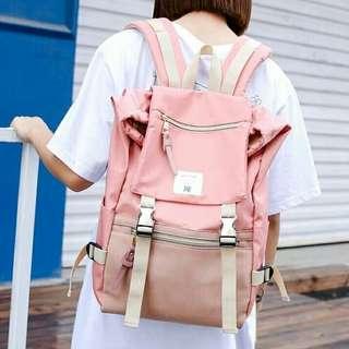 全新粉紅色背包/背囊