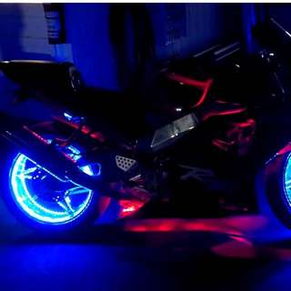 LED LIGHT INSTALLATION FOR MOTORBIKE