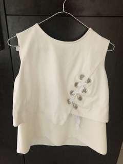 Dior White Sleeveless