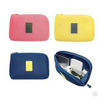 TRAVEL PORTABLE COSMETIC BAGS CABLE POUCH