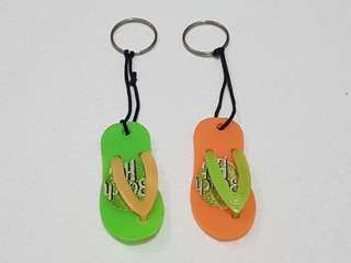 Beach Hut Keychain