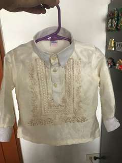 Barong for toodler 1-2 years old