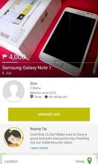 Samsung Note 1