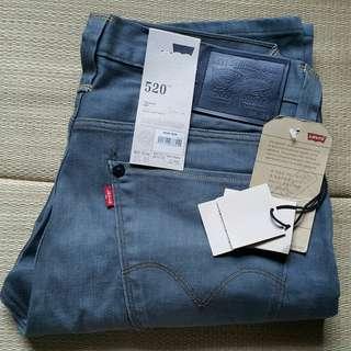 Levi's 520 W32 L33 Grey Green Skinny Jeans 牛仔褲