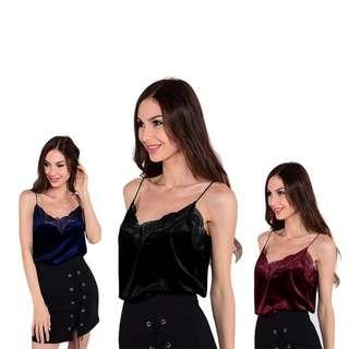 Women Lace Velvet