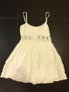 Topshop white sheer dress size 40
