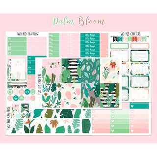 Palm Bloom    Planner Sticker Kit for Erin Condren Vertical Life Planner