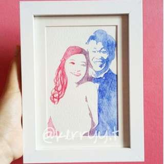 A5 Customised Watercolour Painting (2pax)