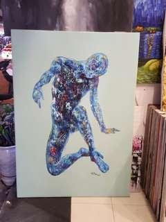 Futuristic Thinking Painting (original)