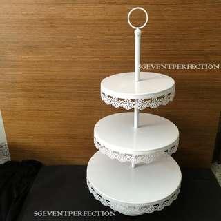 [RENT] 3-Tier Lace Cupcake Stand (w/ & w/o diamond)