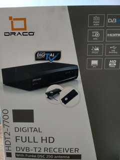 Digital full hd dvb-t2 receiver