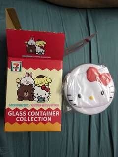 Hello Kitty Glass Container
