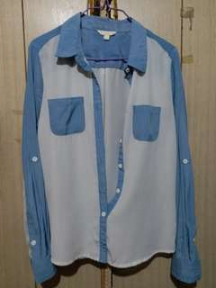 Blue and White Longsleeves