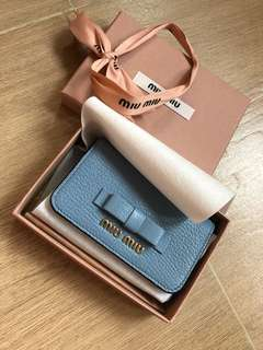 Miu Miu card holder 100% new and authentic