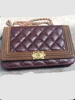 Chanel sling (maroon)