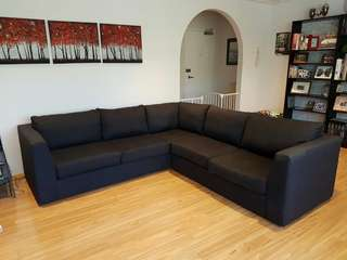 6 seater modular couch - dark grey