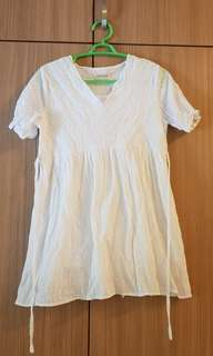Maternity dress (white)