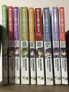 WTS Sword Art Online (SAO) Light Novel (3-11)