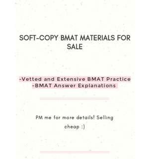 Extensive Soft-Copy BMAT Materials