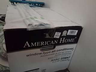 0.5 hp american home window type aircon
