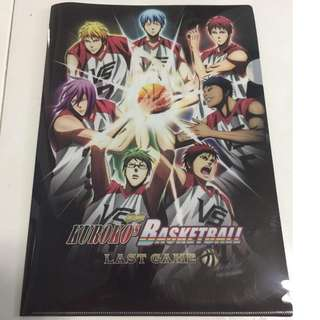 "Kuroko No Basket ""L"" File Folder"