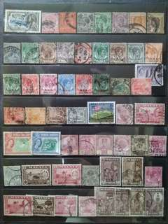 Mix Collection & Best Selection Of 1911 1949 1957 Straits Settlements Malaya - 56v Used Stamps All Different #4