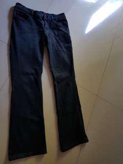Jeans hitam. No.30, stretch.
