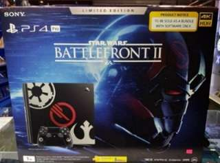 PS4 Pro Battlefront 2 Limited Edition with games!